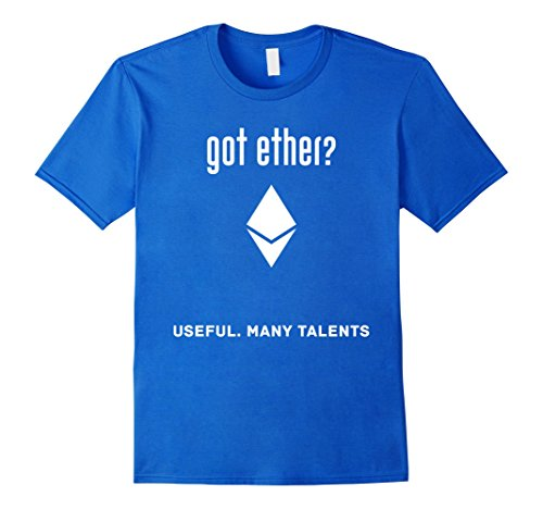 Got Ether Ethereum Useful Many Talents Crypto T-Shirt Herren, Größe L Königsblau
